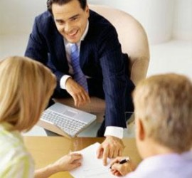 loan consultant with clients