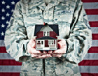 active duty military man completed a VA home loan